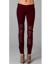 Rebecca Minkoff | Purple Jessica Jean with Python Patches | Lyst