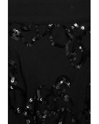 Robert Rodriguez | Black Sequined Silk-chiffon Pants | Lyst
