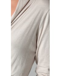 Velvet By Graham & Spencer - White Merina Wrap Top - Lyst