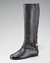 Alexander McQueen   Black Pant-leg Skull-toggle Boot   Lyst