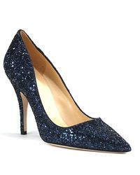 kate spade new york | Blue Licorice Too - Navy Glitter Pump | Lyst