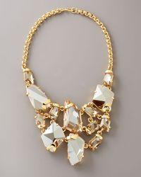 Kenneth Jay Lane | Yellow Crystal Bib Necklace | Lyst