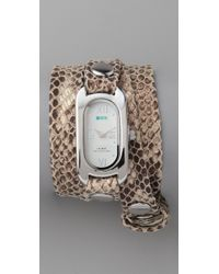 La Mer Collections | Natural Cobra Soho Wrap Watch | Lyst