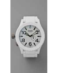 Nixon | White The Rubber 51-30 Watch | Lyst