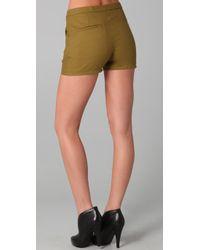 Acne Studios   Green Lee Wool Shorts   Lyst