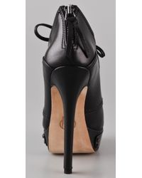 House of Harlow 1960 | Black Nelly Kilty Platform Booties | Lyst