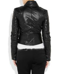 J.W.Anderson | Black Quilted Leather Biker Jacket | Lyst
