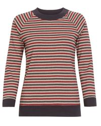 MHL by Margaret Howell | Blue Red and Navy Striped Sports T-shirt | Lyst