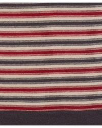 MHL by Margaret Howell - Blue Red and Navy Striped Sports T-shirt - Lyst