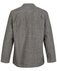MHL by Margaret Howell | Gray Grey Round Collar Organic Chambray Shirt | Lyst
