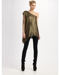 Rachel Zoe | Metallic Marie One-shoulder Top | Lyst