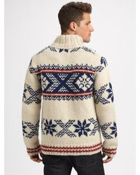 Scotch & Soda | White Hand-knit Wool Sweater for Men | Lyst