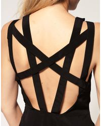ASOS Collection | Black Asos Petite Exclusive Jumpsuit with Cross Back | Lyst