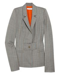 Carolina Herrera | Gray Pinstripe Wool-blend Blazer | Lyst