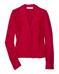 Carolina Herrera | Red Peplum Faille Jacket | Lyst