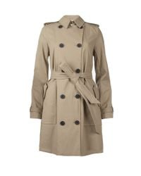 AllSaints | Natural Finsbury Trenchcoat | Lyst