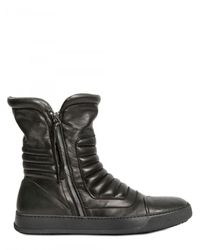 BB Bruno Bordese | Black Padded Calfskin High Top Sneakers for Men | Lyst