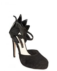 Chrissie Morris - Black 120mm Suede and Stingray Ankle Strap Pum - Lyst