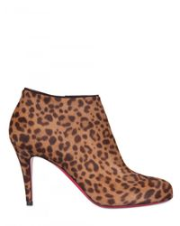 Christian Louboutin - Multicolor 85mm Belle Printed Ponyskin Boots - Lyst