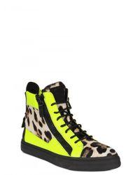 Giuseppe Zanotti   Multicolor Ponyskin Leopard Print High Top Sneakers   Lyst