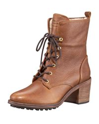 HUNTER | Brown Marisa Shearling Boot | Lyst