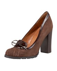 HUNTER | Brown Kennan Duck Pump | Lyst