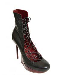Nina Ricci | Purple 120mm Calfskin Lace Up Boots | Lyst