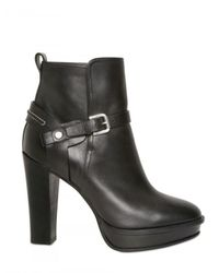 Ralph Lauren Collection | Black Teagan Calfskin Bootie | Lyst