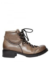 Raparo   Brown 40mm Padded Calfskin Ankle Lace-up Shoes   Lyst