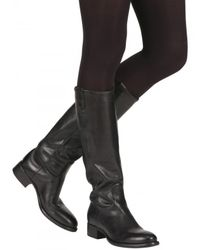 Rocco P - Black 30mm Washed Horse Boots - Lyst