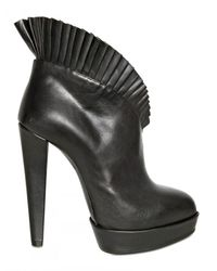 Viktor & Rolf | Black 125mm Ruffled Leather Pumps | Lyst
