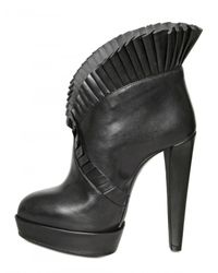 Viktor & Rolf - Black 125mm Ruffled Leather Pumps - Lyst