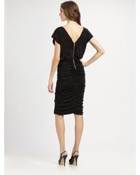 Alice + Olivia - Black Mid-length Ruched Dress - Lyst