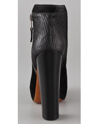 B Brian Atwood - Black Paramour Suede High Heel Booties - Lyst
