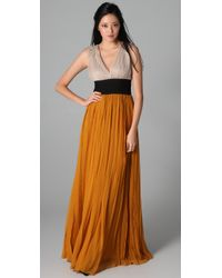 By Malene Birger | Orange Emeline Colorblock Gown | Lyst