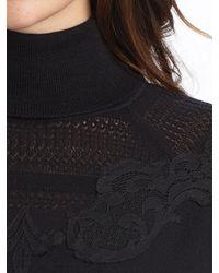Elie Tahari - Black Alexis Wool Mini Skirt - Lyst