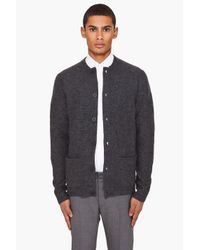 Filippa K | Gray Boiled Wool Cardigan for Men | Lyst