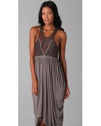 Free People - Gray Fp New Romantics Adriatic Queen Dress - Lyst