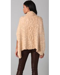 Free People | Natural Popcorn Diamond Poncho | Lyst