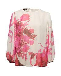 Giambattista Valli | Multicolor Silk Floral Blouse | Lyst