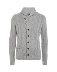Hackett | Gray Chunky Cable Cardigan for Men | Lyst