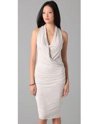 Helmut Lang - White Crome Jersey Overlap Dress - Lyst