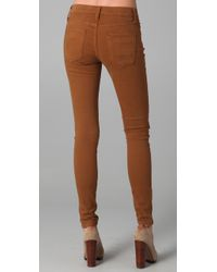 James Jeans - Brown Twiggy Brushed Twill Legging Jeans - Lyst