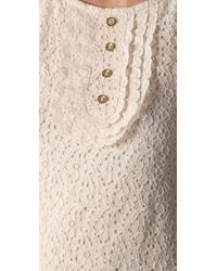Juicy Couture - Natural 3/4 Sleeve Lace Dress - Lyst