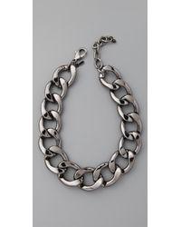 Kenneth Jay Lane - Metallic Polished Lobster Claw Necklace - Lyst