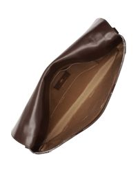 Lanvin | Brown Leather Portfolio Shoulder Bag | Lyst