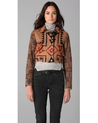 Opening Ceremony - Brown Cropped Bomber Jacket - Lyst