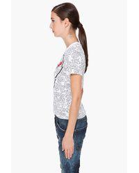 Play Comme des Garçons | White Collaboration Heart T-shirt | Lyst