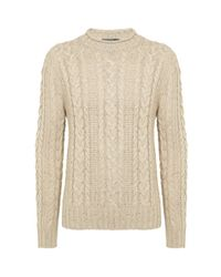 Polo Ralph Lauren | Natural Cable Roll Neck Sweater for Men | Lyst