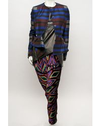 Proenza Schouler - Blue Blanket Peplum Jacket - Lyst
